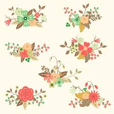 wedding flowers drawing set of free floral vectors with different bouquets of flowers for