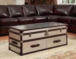 coffee tables vintage trunk coffee table set wood nightstand