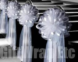tulle decorations church decoration etsy