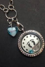 remembrance jewelry baby in memory gift miscarriage child loss locket and charm set glass