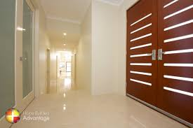 hallway in two storey split level floor plan
