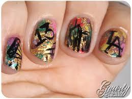 nail art a go go day 26 graffiti gnarly gnails