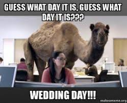 Wedding Day Meme - guess what day it is guess what day it is wedding day