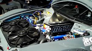 mazda motor cars 4 rotor mazda rx 8 time attack car revving engine at seven stock