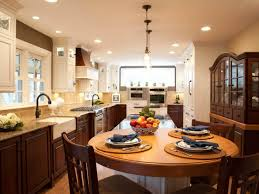 kitchen awesome small galley kitchen ideas with round table and