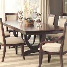 dining room black trestle dining table with upholstered dining