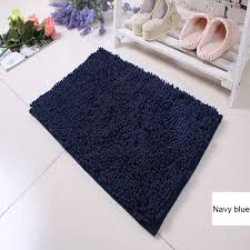 Navy Bath Mat Microfiber Chenille Rubber Backed Bath Mats Spa Bath Mat Buy