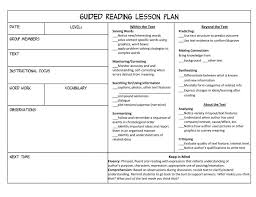 what everybody is saying about guided reading lesson plan template