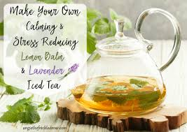 lavender tea calming stress reducing lemon balm lavender iced tea angie