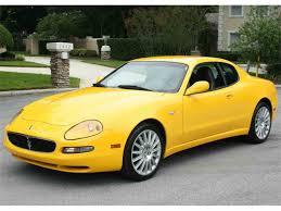 yellow maserati 2002 maserati cambiocorsa for sale classiccars com cc 1024254