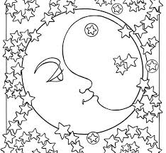 moon star coloring pages coloring moon sun stars