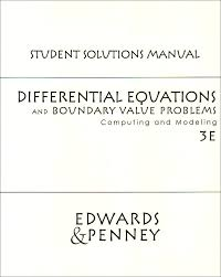 differential equations and boundary value problems student