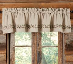 Valances Window Treatments by Rustic Curtains Cabin Window Treatments