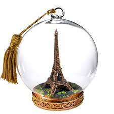 glass globe paris eiffel tower ornament indulging my inner