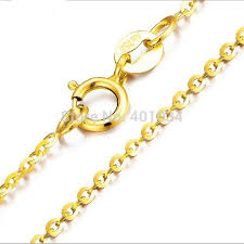 round necklace clasp images 18ct yellow gold chain necklace 18k 1mm round cable chain with jpg