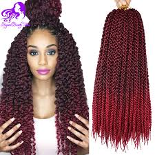 crochet hair extensions 18inch 3d cubic twist crochet braids hair extensions 12roots ombre