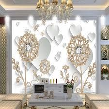 Jewelry Shop Decoration Free Shipping 3d Luxury Diamond Dandelion Jewelry Background Wall
