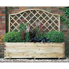 forest garden venice planter with trellis internet gardener