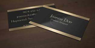 elegant black and gold business card template for fashion designer