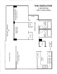 Two Bedroom Floor Plan by Floor Plans Riverton Tower