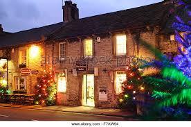 christmas lights in windows windows lights street uk stock photos windows lights street uk