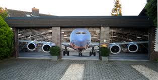 14 three car garage door decal airplane hanger garage doors