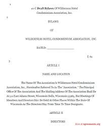 draft bylaws agreement sample draft bylaws agreementagreements org
