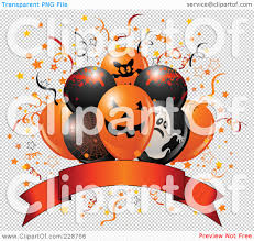 halloween banner png royalty free rf clipart illustration of halloween balloons over