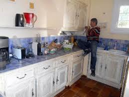 cuisine blanc cérusé cuisine ceruse blanc meubles de cuisine et crdence carrelage