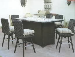 Outdoor Bar Height Swivel Chairs Patio Renaissance Catalina Outdoor Wicker Furniture