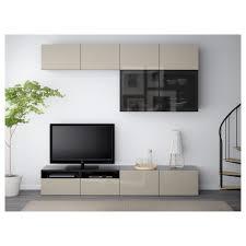 Ikea Besta Glass Doors by Bestå Tv Storage Combination Glass Doors Black Brown Selsviken