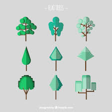 abstract flat tree vector free