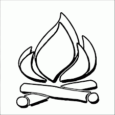 campfire coloring page coloring home