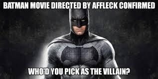 Affleck Batman Meme - first look at ben affleck batman justpost virtually entertaining