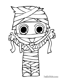 mummy monster and witch coloring pages hellokids com