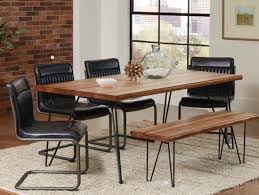 hair pin legs 6 pcs chambler dining table w hairpin legs live edge and