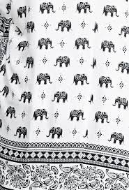 forever 21 paisley trimmed elephant print kimono in black lyst