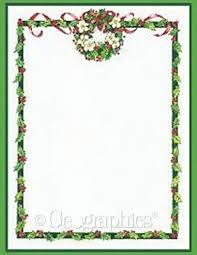free christmas menu borders holly wreath border printable