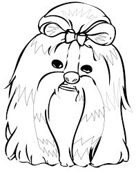 shih tzu coloring page handipoints dog and cat coloring pages dog