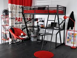 lit mezzanine noir avec bureau lit mezzanine 90x190cm bureau option matelas