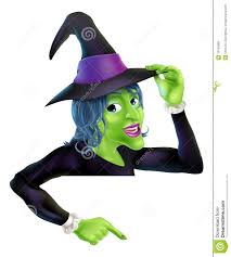 halloween witch pointing royalty free stock photos image 33182868