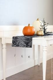 halloween table runner pattern no sew halloween table runner with hanging spiders from my