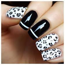 leopard nails these 32 black and white nail art patterns will u2026