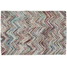 Turquoise Brown Rug Kids Rugs Multi Color Chevron Rug The Land Of Nod