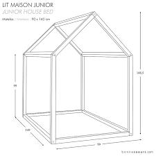 dimension chambre enfant bonnesoeurs design lit maison dimensions taille junior chambre
