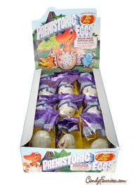 chocolate dinosaur egg jelly belly prehistoric egg with gummi dinosaur center 24 box