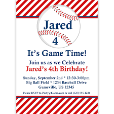 baseball birthday invitations cimvitation