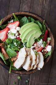 strawberry avocado chicken salad with balsamic vinaigrette easy
