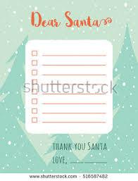 cartoon christmas wish list christmas trees a stock vector