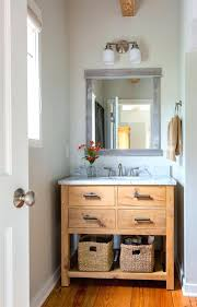 coastal bathroom vanity in bathroom beach style with above counter